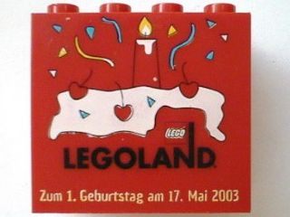 Bricklink Part 30144pb009 Lego Brick 2 X 4 X 3 With Legoland
