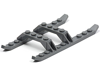 Dark Grey 2 X LEGO 30248 Chassis Helicopter Helicopter Sled Rails new New