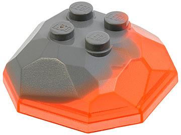 Lego 1 Trans Neon Orange boulder rock