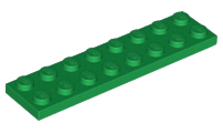Gris Foncé Plate 2x8 NEUF NEW Lego 3034-4x Plaque Dark Bluish Gray
