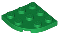 Lego Plate Round Corner 3 x 3 Parts Pieces Lot ALL COLORS
