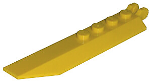LEGO PART 30407 HINGE PLATE 1 X 8 ANGLED SIDE YELLOW X 2 PCS NEW