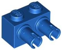 4x LEGO LIGHT BLUISH GREY BRICK MODIFIED 1 X 2 WITH 2 PINS P//N 30526 NEW C018