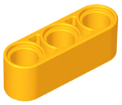 Lego Lot of 50 New Yellow Technic Liftarms 1 x 2 Thick Pieces