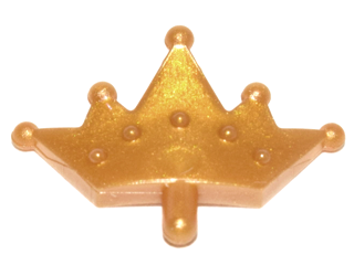Lego Minifig Tiara x 1 Pearl Gold for Minifigure