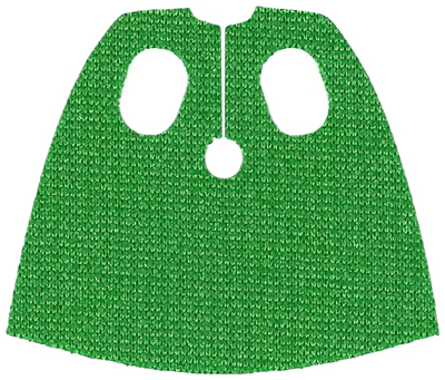 Lego New Green Minifigure Cape Cloth Short with Oval Holes Piece