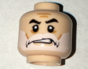 LEGO WHITE BEARD FOR LEGO MINIFIGURE