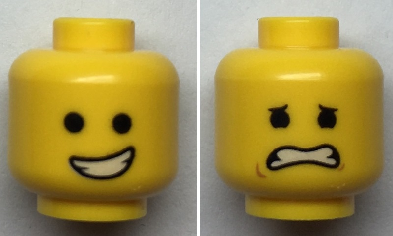 Lego Minifigure head male side smile yellow