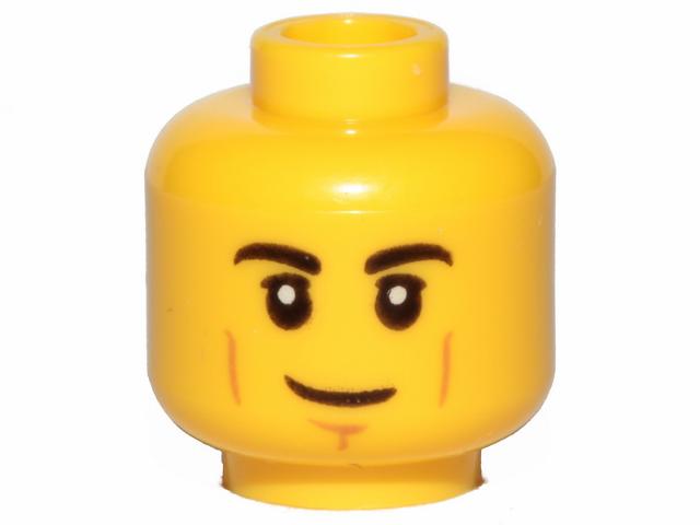 Head Hollow Stud NEUF NEW blanc, white 4 x LEGO 3626 Minifigure Tête