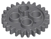 part no 3648b 2x Technic Lego Technic Gear 24 Tooth in Old Grey