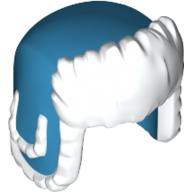 Lego Wintermütze in weiss dunkel azurblau Mütze Ushanka Kappe City 36933pb02 Neu