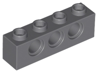 Lego Technic 2x Brique Brick 1x16 hole noir//black 3703 NEUF
