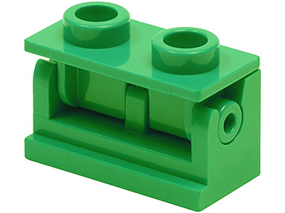 2 x LEGO 3937 Brique Charnière Hinge Brick 1x2 Base NEUF NEW marron, brown