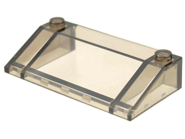 Trans Clear x1 Panel Sides Lego Slope 33° 3x6 58181