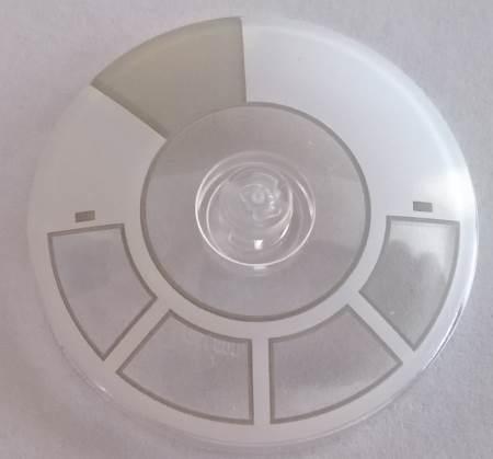 1 X  Lego 3960 Dish 4 x 4 Inverted trans-clear Radar -