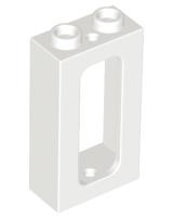 1104 # Lego Railway Wagon Window 1x2x2 White with Transparent Window