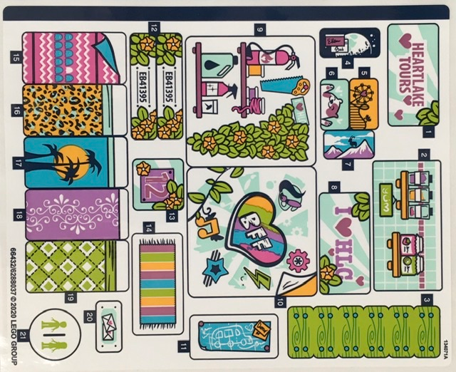 NEW LEGO  Sticker Sheet for Set 3185 Mirrored 10099435//4650854