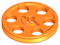 Lego 2 Lime Green technic Wedge Belt Wheel