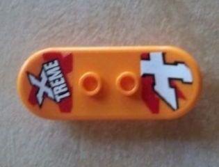 LEGO Orange Skateboard For Minifigure