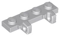 LEGO 44568 /& 44570 LIGHT GREY HINGE PLATE WITH LOCKING DUEL FINGERS HINGE x 2