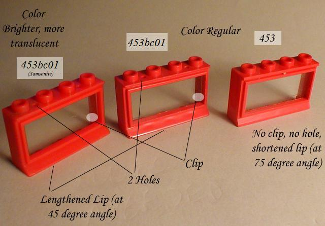 Lego ® Fenêtre Rouge Vintage 1x4x2 Red Windows with Extended Lip ref 453