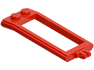 LEGO 6 x Pferdehalterung rot Red Horse Hitching with Hinge 4587