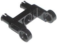 LEGO Technik 1x Verbinder mit 2 Pins in Schwarz 48496