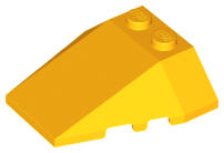 Lego 5 New Dark Bluish Gray Wedge 4 x 4 Triple Stud Notches Pieces