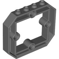 Lego 10 New Dark Bluish Gray Panel 1 x 6 x 4 1//3 with Window and 4 Pin Holes