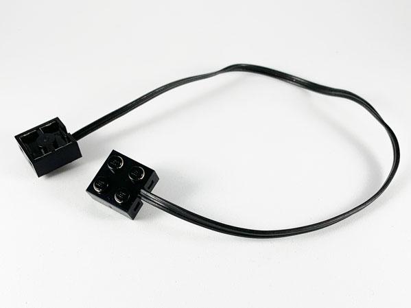 LEGO 9V Electric Wire w// Brick 2 x 2 x 2//3 Pair 162 Studs Long