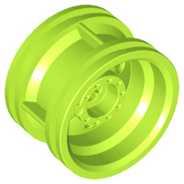 Lego 2x Wheel Rim Wheel 30.4 mm D.X 20 Reinforced White//White 56145 NEW