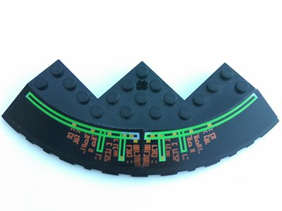 LEGO NEW Brick Round Corner 10x10 w// Slope 33 Edge Axle Hole Facet Cutout BLACK
