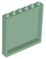 LEGO Light Bluish Gray 1x6x5 Wall Panel Piece