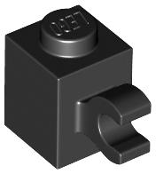 Lego 4x Brick Brick Modified 1x1 Horizontal Clip White//White 60476 New