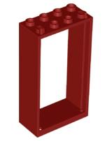 Lego New Black 4 Pane Door With White Frame 1 x 4 x 6 Dot