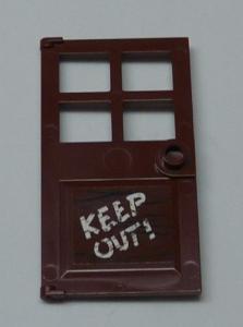 Lego-door 1x door 1x4x6 4 panes window tiles brown//red brown 60623 new