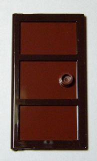 Lego Door 1 x 4 x 6 with Three Panes and Stud Handle with Reddish Brown & BrickLink - Part 60797c03 : Lego Door 1 x 4 x 6 with Three Panes and ...