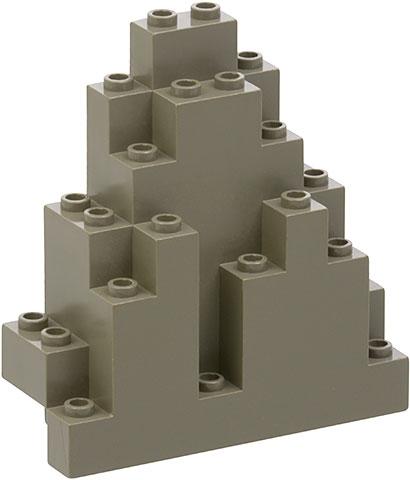 5 X LEGO 6083 Rock Panel Dark Grey Castle Wall ORIGINAL 90s Vintage CLEANED
