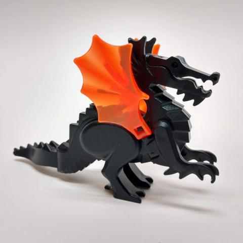 Lego-wedge wing plate 4x 4x4 trans neon orange neon 43719 new