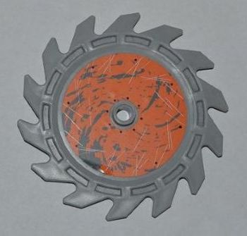 Lego Technic 1x Saw Blade Circular Circularly Tooth Saw Blade 9x9 Red//Red 61403