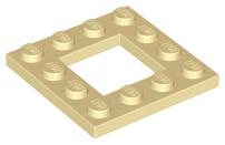 Ausschnitt  64799 neu hellgrau 4x4 Lego 4 x Platte mit quadrat
