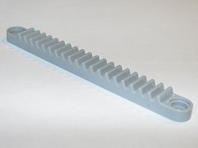 LEGO Technic 6592-2x Zahnstange gear rack 1x10 mit Loch alt hellgrau 5563