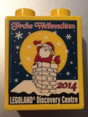 Duplo Weihnachten.Bricklink Part 76371pb005 Lego Duplo Brick 1 X 2 X 2 With