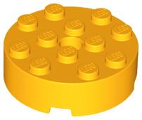 Lego 25 New Black Bricks Round 4 x 4 with Hole Pieces