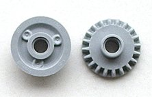 Lego Light Bluish Gray Technic Gear 20 Tooth Bevel with Pin Hole Parts Lot of 20