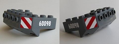 LEGO Dark Bluish Gray Train Front Sloping Base Piece