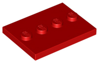 LEGO 8 x Fliese m 4x4 with Studs on Edge 6179 Noppen schwarz Black Tile Mod