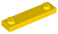 Lego 6x Flat modified 1x4 2 Studs 2 schloßbolzen Red Dark//Dark 92593 NEW