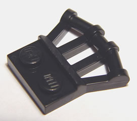 10 Pieces Per Order Black Modified Plates With Angled Handles LEGO 92692