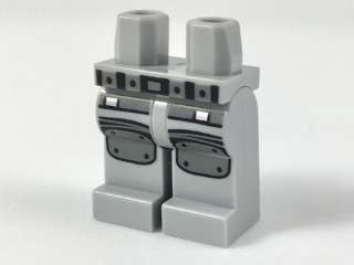Lego New Minifigure  20 White Hips and Legs with Black Belt Pattern Pieces